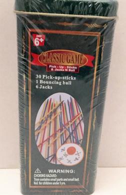 Classic Game Combo Tin; Pick Up Sticks & Jacks N Ball