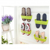 Kemilove 1PC Wall-mounted Shoes Rack Door Wall Vertical DIY Shoe Rack Bathroom Shoe Rack, Random colour