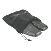 "Travel Shoe Bag 12 1/2""x15"" Drawstring Black Soft Nylon Shoe Tote Bags, Suitcase Dress Travel"