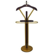 Wood 120cm Suit Valet Rack Stand With Gold Accents