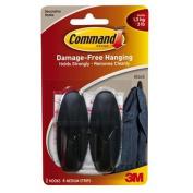 Command Designer Hooks, Medium, Black, 4-Hooks