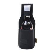 Kloud City Outdoor Drink Hip Holster Handmade Neoprene Single Bottle Can Beverage Holder Black