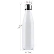OUTAD Ultimate Vacuum Insulated, Double Walled Stainless Steel Water Bottle & Drinks Bottle - 24 Hours Cold & 12 Hot - 500ml - Perfect Sports Water Bottle, Vacuum Flask Bottle