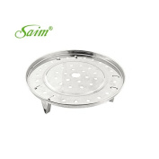 Saim Metal Steaming Rack Tray w Stand for Cooker Silver Tone Pack of 1