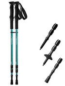 Pair of Trekrite Women's Antishock Hiking Sticks / Walking Poles - Purple or Teal