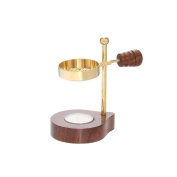 Nklaus Esoteric Adjustable Incense Holder with Wood Handle Gold Incense Stand 1525