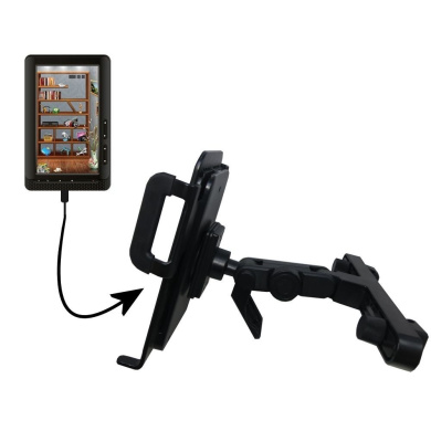 Unique Highly Adjustable Car/Auto Headrest Mount for the Laser eBook Media 7 EB850 by Gomadic