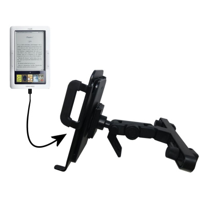 Gomadic Brand Unique Vehicle Headrest Display Mount for the Barnes and Noble Nook 3G Wi-Fi