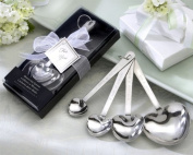 Love Beyond Measure Heart-Shaped Measuring Spoons in Gift Box -48 count