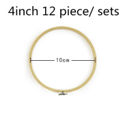 2500 Silk Art Bamboo Circle Tambour Hoop ring 10cm 12 piece/Set for Party Decor Embroidery Cross Stitch CXQ12-10