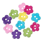 """DoreenBeads Resin Sewing Button Scrapbooking Flower Mixed Two Holes 10.5mm( 3/8"""") x 10.0mm( 3/8""""), 300 PCs 2015 new"""