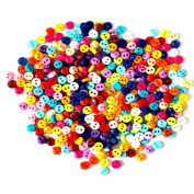600Pcs/lot 6mm Round Resin Mini Tiny Buttons Sewing Tools Decorative Button Scrapbooking Garment DIY Apparel Accessories