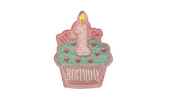 First 1ST BIRTHDAY Iron On Patch Cupcake Cake Applique Girls Baby Kids Motif Children Decal 4.3 x 3.1 inches