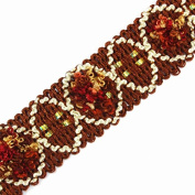 10yards 3D Braided Brown Curtain Ribbon Lace Trim Tape Webbing Motif Applique Trimming Sewing Accessories for DIY Design