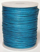 Blue Bird Brand - 1.5mm Turquoise Polished Braided Cotton Cord. 100 metres per spool. Includes 1 spool.