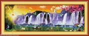 Running water Embroidery Kit Precise Printed Needlework Cross stitch