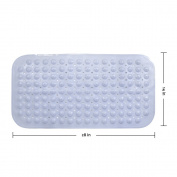 Nonslip Bathtub Mat ,Antibacterial Bath Mat 70cm x 36cm Blue