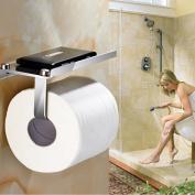 Toilet Paper Holder,Bathroom Tissue Roll Hanger,Wall Mount Paper Towel Hooks/Dispenser/Storage/Organiser/Tower/Stand/Rack for Hanging & Organisation with Phone Shelf
