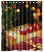 Standard-Store Custom Christmas Gifts Decorations Waterproof Polyester Fabric Shower Curtain 150cm x 180cm