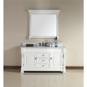 James Martin 147-114-5341-CAR Brookfield 150cm Cottage Single Vanity with Carrera White Stone Top