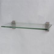 XVL 36cm Bathroom Glass Shelf, Brushed Nickel GS3003A