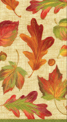 Entertaining with Caspari Linen Guest Towels, Leaves, Pack of 15