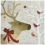 Paperproducts Design 7498 Holiday Paper Napkin for Cocktail, 13cm by 13cm , Winter Deer Friends