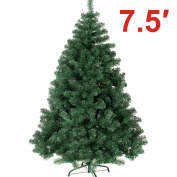 NEW Green 2.3m Classic Pine Christmas Xmas Tree Artificial Realistic Natural Branches---1200 tips with Solid Metal Stand