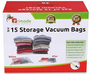 Primode Space Saver Vacuum Storage Bags, 15 Count Value Pack – Saves Space & Protects Clothing Easy-to-Use
