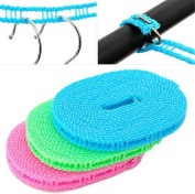 Schoolsupplies 1pcs 5M Portable Clothesline Outdoor Indoor Home Travel Windproof Drying Retractable Non-Slip Washing Clothes Hanger Line