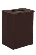 StorageManiac Heavy-Duty Folding Portable Clothes Laundry Hamper with Lid and Handles, Brown
