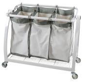 Apollo Hardware Heavy Duty 3-Bag Laundry Sorter,White