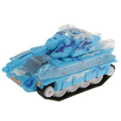 Generic Electric Plastic Tank Model Kit Toy Gift with Lights & Sounds Blue