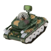Generic Electric Plastic Tank Model Kit Toy Gift with Lights & Sounds Green