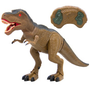 Best Choice Products Remote Control T-Rex RC Walking Dinosaur Lights & Sounds Kids Toy Animal