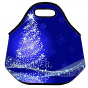 Estrellaw Merry Christmas Decoration Tree Lunch Bag