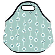 Estrellaw Christmas Snow Flakes Pattern Lunch Bag