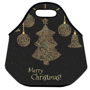 Estrellaw Merry Christmas Decoration Tree And Bell Lunch Bag