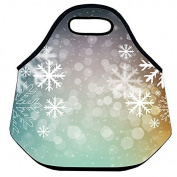 Estrellaw Christmas Snow Flakes Lunch Bag