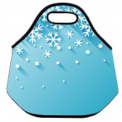 Estrellaw 3d Christmas Snow Flakes Lunch Bag