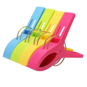 Windproof Big 4 Pcs Clothes hanging Peg Plastic Beach Towel Clips Clothes Line Clips Quilt Sheet Clip