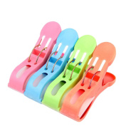 4 Pcs Bright Colours 13cm Over Size Beach Bath Towel Clips Clothes Towel Pegs Quilt Clips Hangers Holder