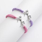 Adjustable Cord Bracelet With Metal Horse Centrepiece ~ 2 Colours ~ One Chose...