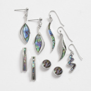 Inlaid Abalone Shell Earrings ~ 6 Designs Of Hooks and Studs ~ 1 Card Of Two ...