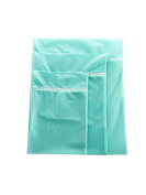 WJL 3 Packs of Premium Laundry Mesh Wash Bags for Laundry Travel Net Laundry Bag,Available in Pink and Green.