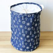 AddfunPremium Fabric Foldable Round Laundry Basket, Children Toys Storage Organiser with Lids 3545cm
