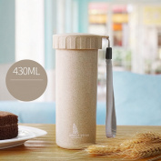 AddfunSolid Colour Wheat Straw Minimalist Water Cup