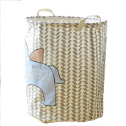 DuShow Horse Cute Foldable Laundry Hamper Large Cylindric Closet Storage Bin Bag Storage Basket Bucket