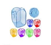 Drhob Foldable pop up net /mesh clothes washing laundry basket bag bin hamper A variety of colours random