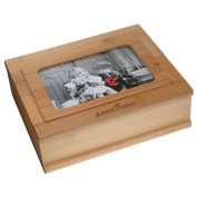 Bamboo Treasure Box with Picture Frame 4 x 6
